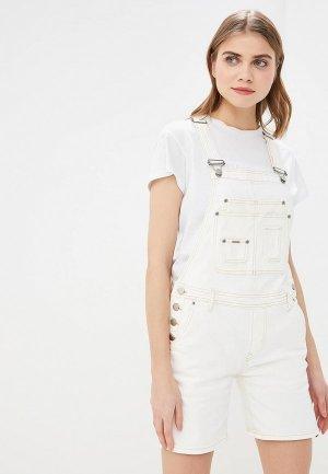 Комбинезон джинсовый Pepe Jeans. Цвет: белый