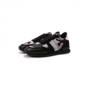 Комбинированные кроссовки Valentino. Цвет: чёрный