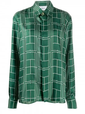 Рубашка с графичным принтом Casablanca. Цвет: зеленый