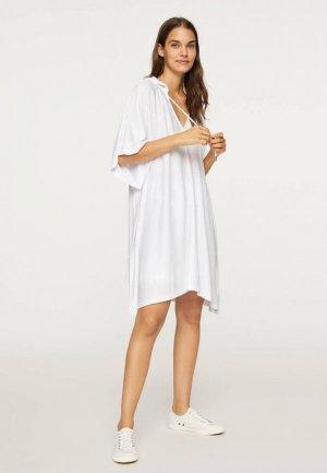 Платье Oysho_Sport. Цвет: белый