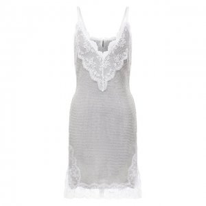 Платье Christopher Kane. Цвет: серебряный