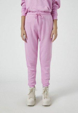 Брюки спортивные Pull&Bear. Цвет: розовый