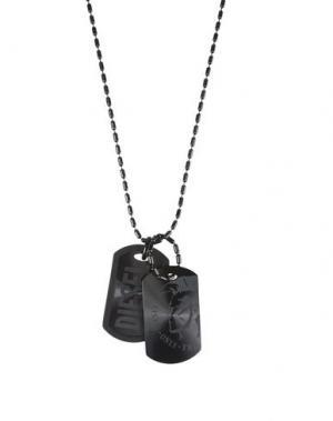 Ожерелье DIESEL. Цвет: черный