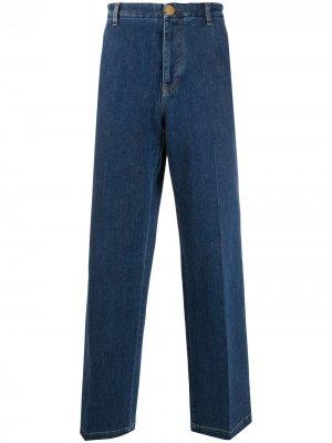 Широкие джинсы Versace. Цвет: синий