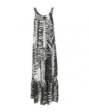 Длинное платье ALPHA STUDIO. Цвет: темно-зеленый