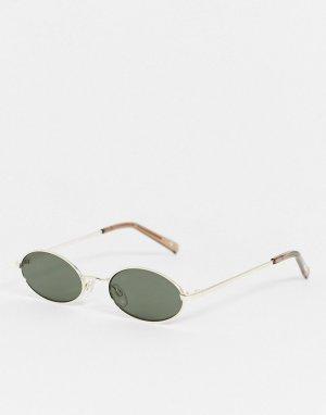 Круглые солнцезащитные очки -Золотой Le Specs