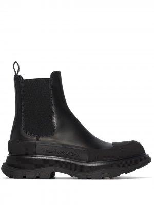 Ботинки челси на массивной подошве Alexander McQueen. Цвет: черный