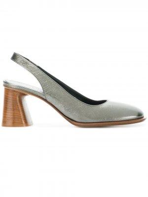 Туфли-лодочки с открытой пяткой Premiata. Цвет: золотистый