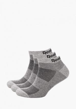 Носки 3 пары Reebok TE LOW CUT SOCK 3P. Цвет: серый