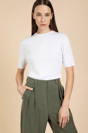 Джемпер женский с коротким рукавом VASSA&Co. Цвет: белый