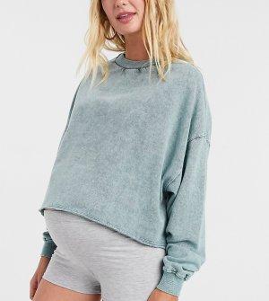 Серые облегающие шорты -Серый Fashionkilla Maternity