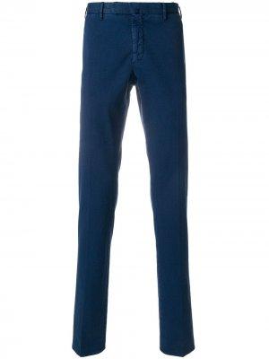 Прямые классические брюки Incotex. Цвет: синий