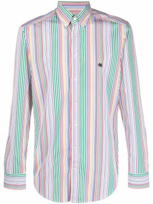 Полосатая рубашка с длинными рукавами Etro. Цвет: белый