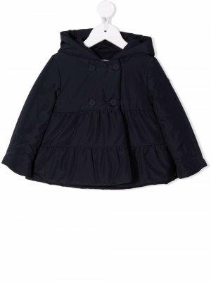 Hooded double-breasted padded jacket Il Gufo. Цвет: синий
