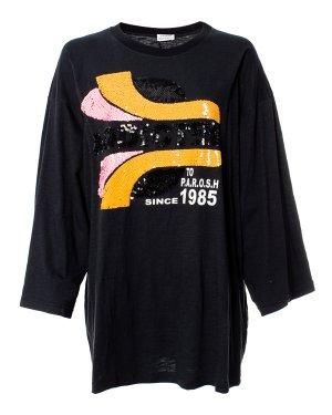 Туника CADDY170509 s черный+принт P.A.R.O.S.H.. Цвет: черный+принт