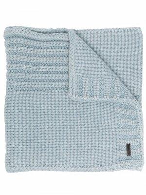 Кашемировый шарф тонкой вязки Iris Von Arnim. Цвет: синий