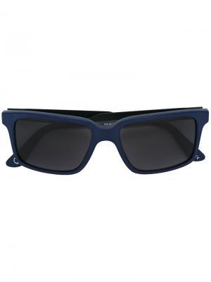 Солнцезащитные очки Shawford Paul Smith. Цвет: синий