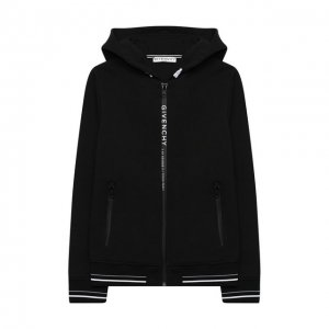 Хлопковая толстовка Givenchy. Цвет: чёрный