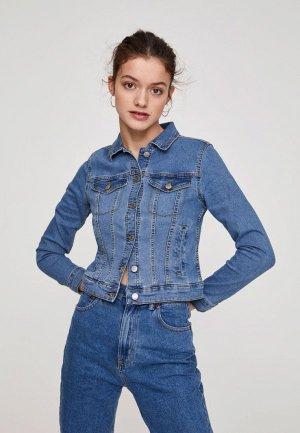 Куртка джинсовая Pull&Bear. Цвет: синий