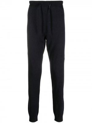 Спортивные брюки из джерси кроя слим Corneliani. Цвет: синий
