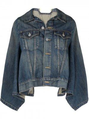 Джинсовая куртка-кейп Junya Watanabe. Цвет: синий