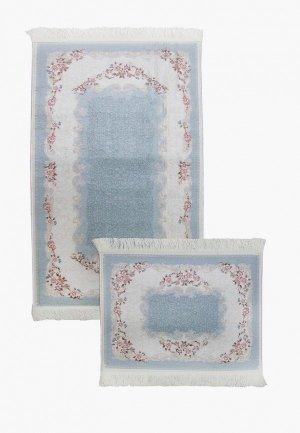 Комплект ковриков Arloni. Цвет: голубой
