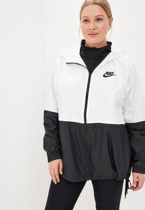 Ветровка Nike Womens Sportswear Woven Jacket (Plus Size). Цвет: белый