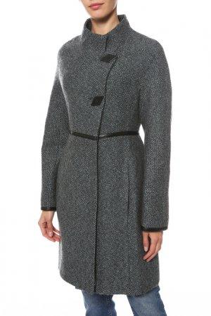 Пальто Анора. Цвет: серо-голубой