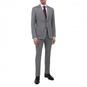 Шерстяной костюм Z Zegna. Цвет: серый