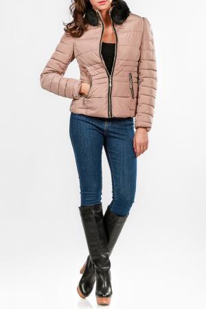 Куртка Cocogio. Цвет: бежевый