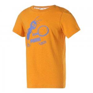 Детская футболка x TINYCOTTONS Kids Tee PUMA. Цвет: желтый