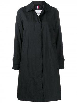 Пальто А-силуэта Tommy Hilfiger. Цвет: черный