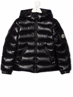 Logo-patch padded jacket Moncler Enfant. Цвет: черный