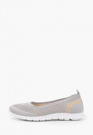 Туфли GLAMforever. Цвет: серый