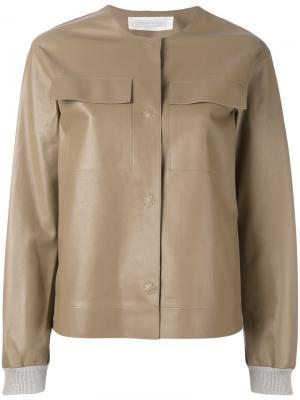 Куртка бомбер Fabiana Filippi. Цвет: коричневый