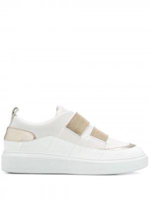 Декорированные кроссовки-слипоны Steffen Schraut. Цвет: белый