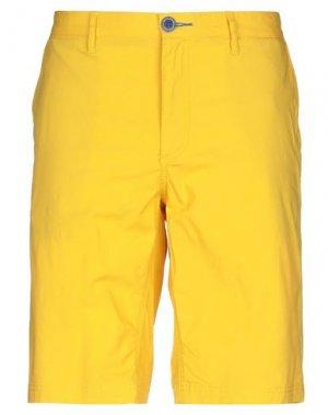 Бермуды FRED MELLO. Цвет: желтый