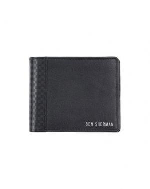 Бумажник BEN SHERMAN. Цвет: черный