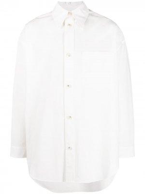 Рубашка Martino с длинными рукавами Nanushka. Цвет: белый