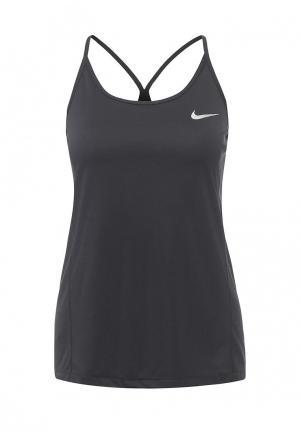 Майка спортивная Nike W NK DRY MILER TANK. Цвет: черный