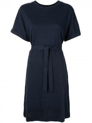 Расклешенное платье-футболка A.P.C.. Цвет: синий