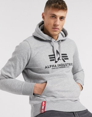 Худи -Серый Alpha Industries