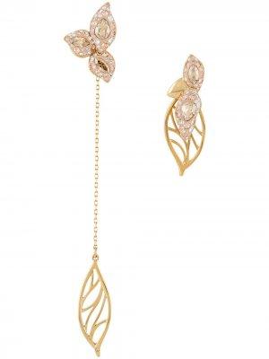 Серьги Graceful Bloom разного дизайна Atelier Swarovski. Цвет: золотистый