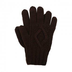 Кашемировые перчатки Ralph Lauren. Цвет: коричневый