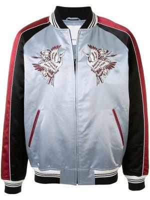 Куртка-бомбер с вышивкой Ports V. Цвет: синий
