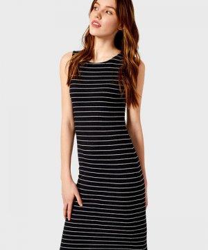 Платье-майка в рубчик O`Stin. Цвет: темно-синий