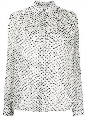 Рубашка с длинными рукавами и принтом Kufiya Lala Berlin. Цвет: белый