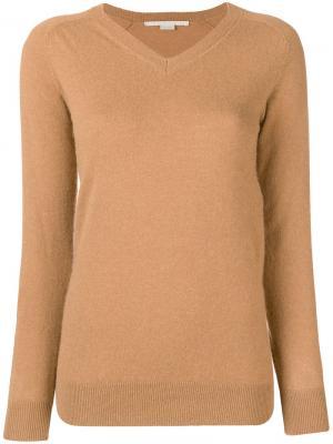 Пуловер с V-образным вырезом Stella McCartney. Цвет: нейтральные цвета