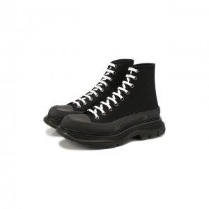 Текстильные ботинки Tread Slick Alexander McQueen. Цвет: чёрный