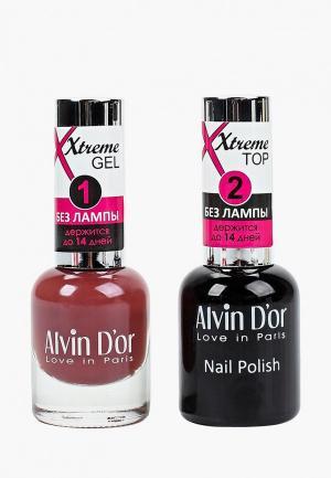 Набор гель-лаков Alvin Dor D'or Гель Xtreme extreme (Лак+Top) 2х15мл.5213 тон MIX 13. Цвет: прозрачный